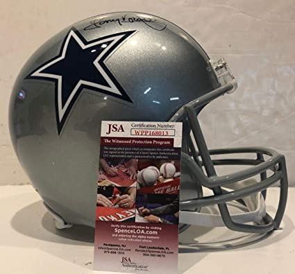 c5680966721 Image Unavailable. Image not available for. Color  Tony Dorsett Autographed  Signed Dallas Cowboys Full Size Helmet JSA