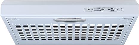 Campana extractora de cocina de 50 cm en color blanco, de Cookology: Amazon.es: Grandes electrodomésticos