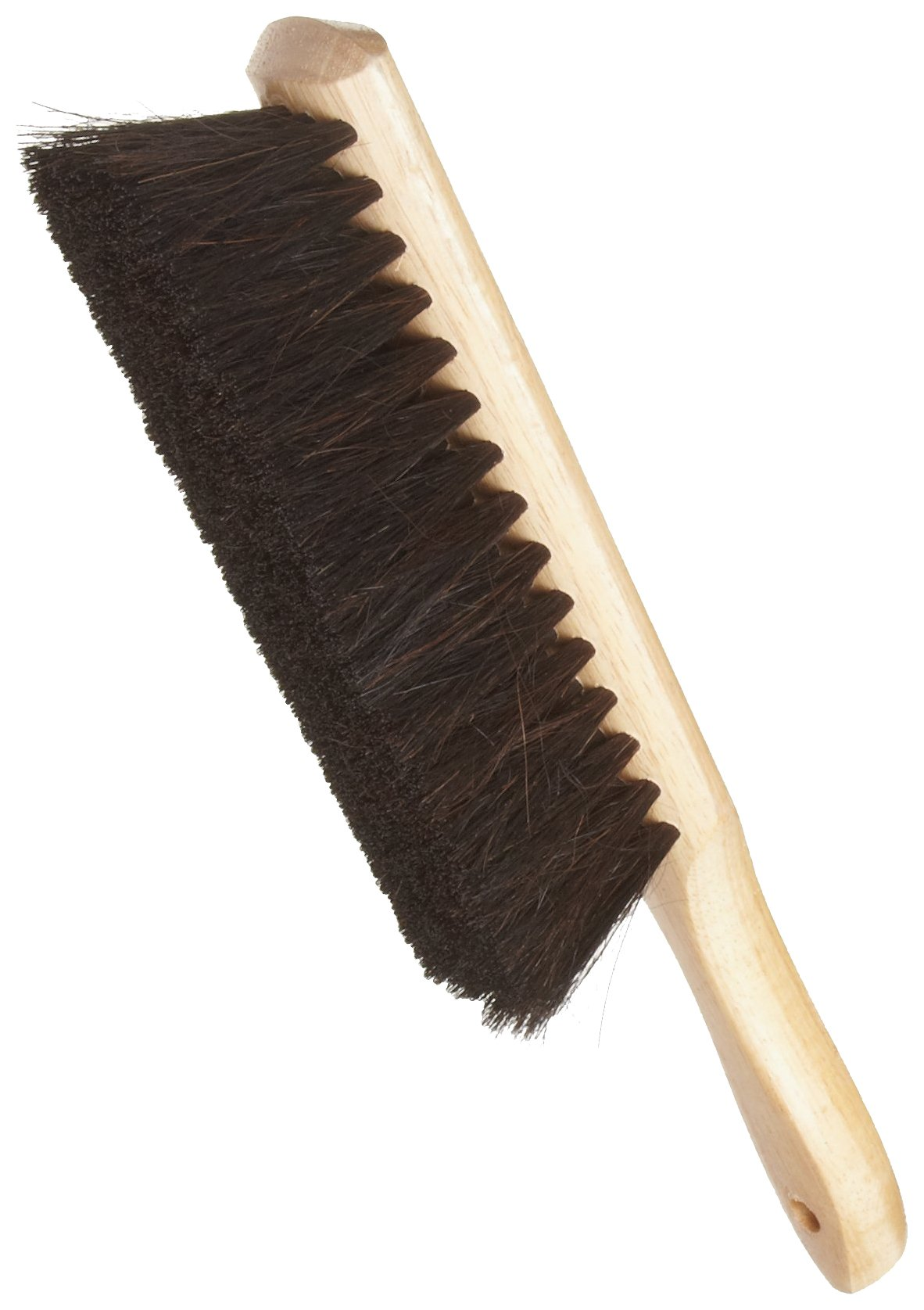 Weiler 71019 Horsehair Counter Duster with Wood Handle, Wood Block, 2-1/2'' Head Width, 8'' Overall Length, Natural