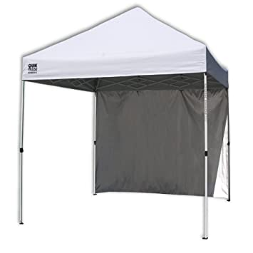 quik shade commercial c100 instant canopy with wall panel white