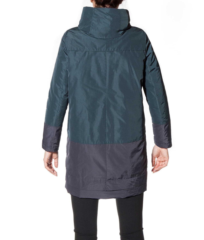 ECOALF Imatra Coat Woman 2 Tone, Parka para Mujer, Ebony 117 + Anthracite S: Amazon.es: Ropa y accesorios