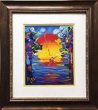 "Peter Max ""Better World Newly Custom Framed Art Print 18"" x 20"""