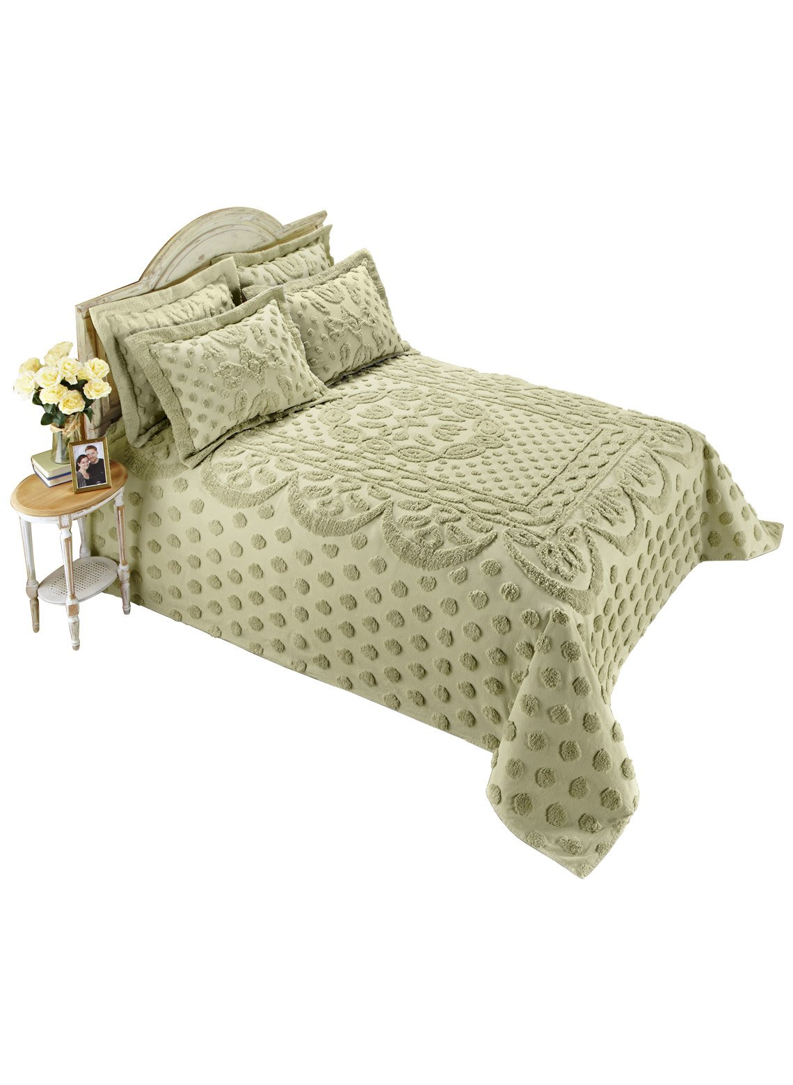 Carol Wright Gifts Chenille Bedspread - King, Color Sage, Size King, Sage, Size King