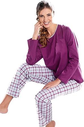 Cybele Womens Pyjama Set 810068 Grey/Berry 10