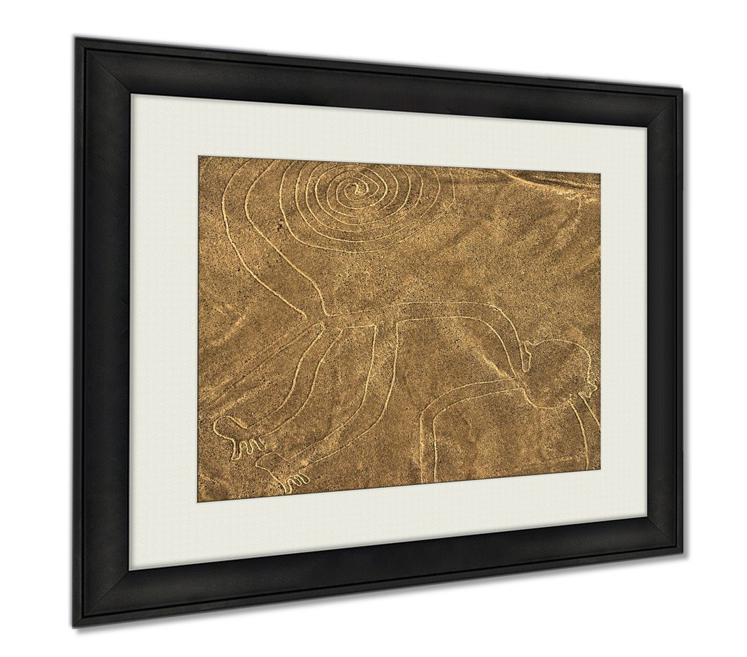 Ashley Framed Prints Nazca Lines Monkey, Wall Art Home Decoration, Color, 26x30 (frame size), AG5906371