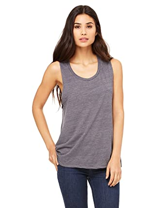 9d7a706bb57ae Bella + Canvas Ladies Flowy Scoop Muscle Tank at Amazon Women s ...