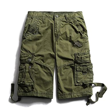 Men's Cotton Loose Fit Multi Pocket Cargo Shorts | Amazon.com