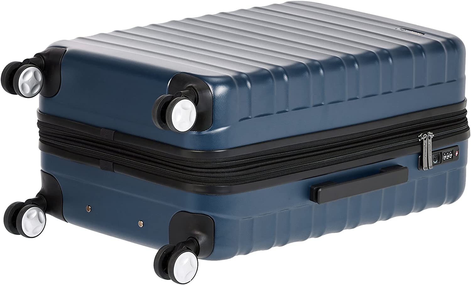 Basics Premium Hardside Spinner Suitcase Luggage with Built-In TSA Lock and Wheels