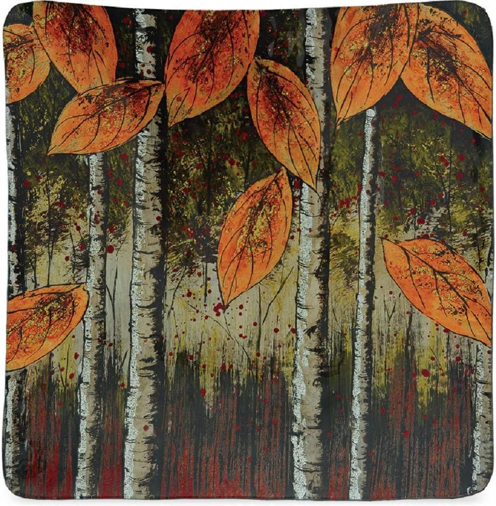 AngelStar Autumn Leaves 11-1//2 Inch Square Decorative Plate One Size Multicolor