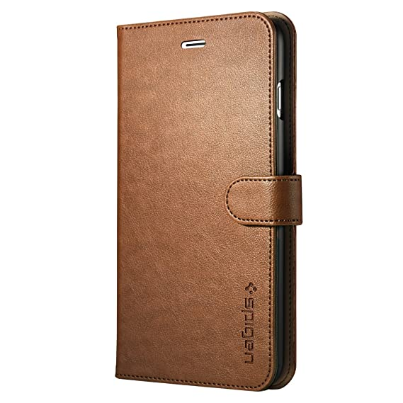 size 40 06cf8 2cdf7 Spigen Wallet S iPhone 7 Plus Case with Foldable Cover and Kickstand  Feature for iPhone 7 Plus 2016 - Brown