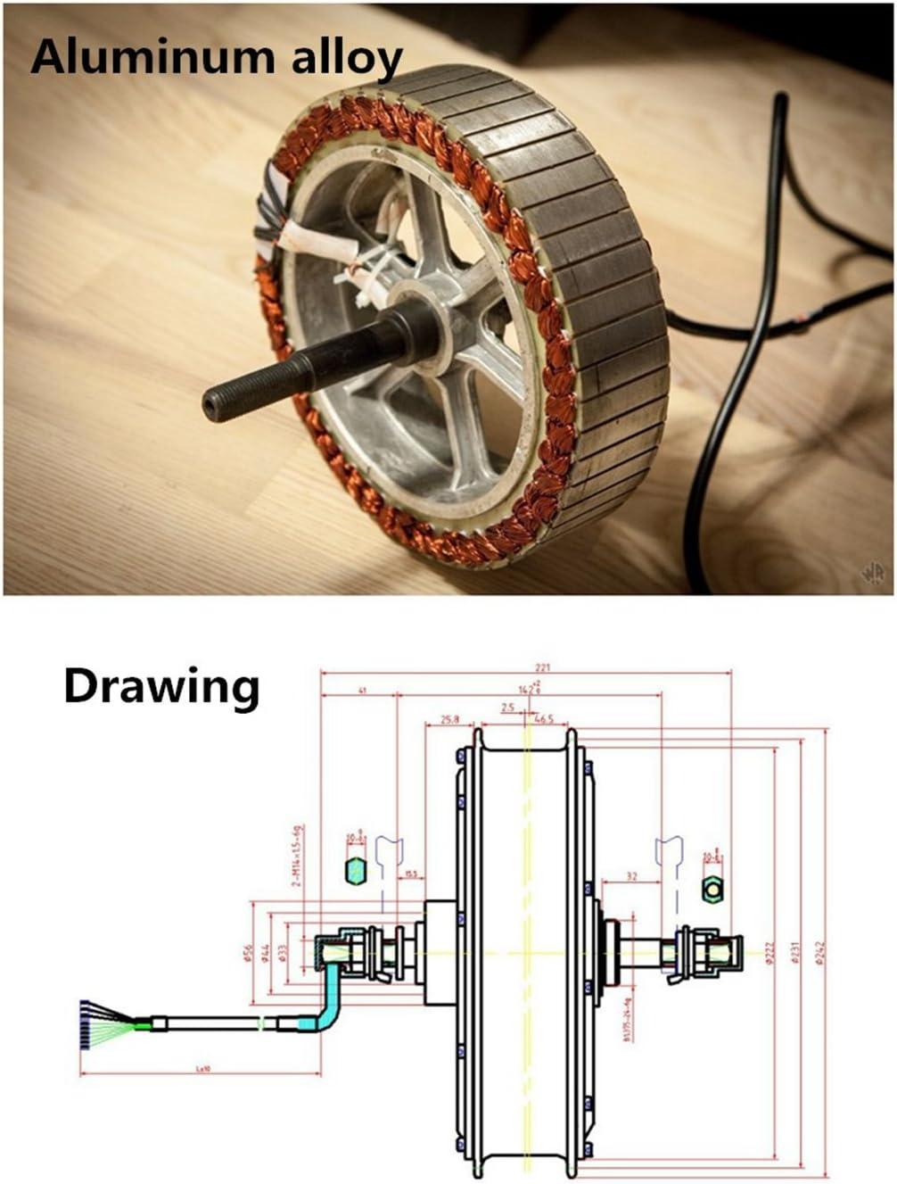 Nbpower 48 V 88 V 66 cm 72 5000 W kit de conversion E-Bike ...
