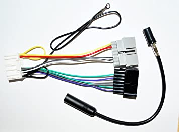 71DXztOwqFL._SX355_ amazon com radio wire harness adapter old to new 7 22pin cd Jeep Wire Harness Connectors at fashall.co