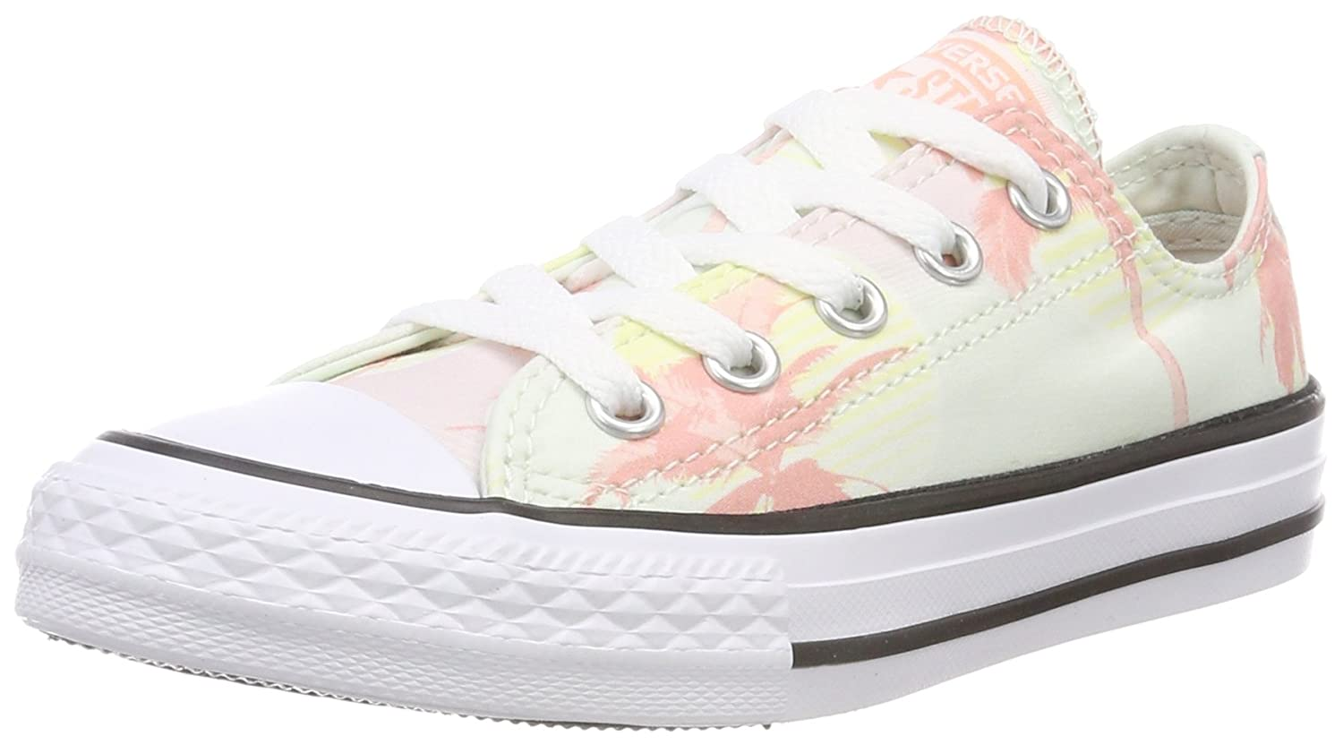 Converse Unisex-Kinder CTAS OX Fitnessschuhe  37/38 EU|Gr眉n (Barely Green/Pale Coral/White 315)