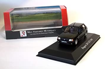 Peugeot 205 GTI 1985 1:43 - LES VOITURES MYTHIQUES de DOMINIQUE CHAPATTE - DIECAST