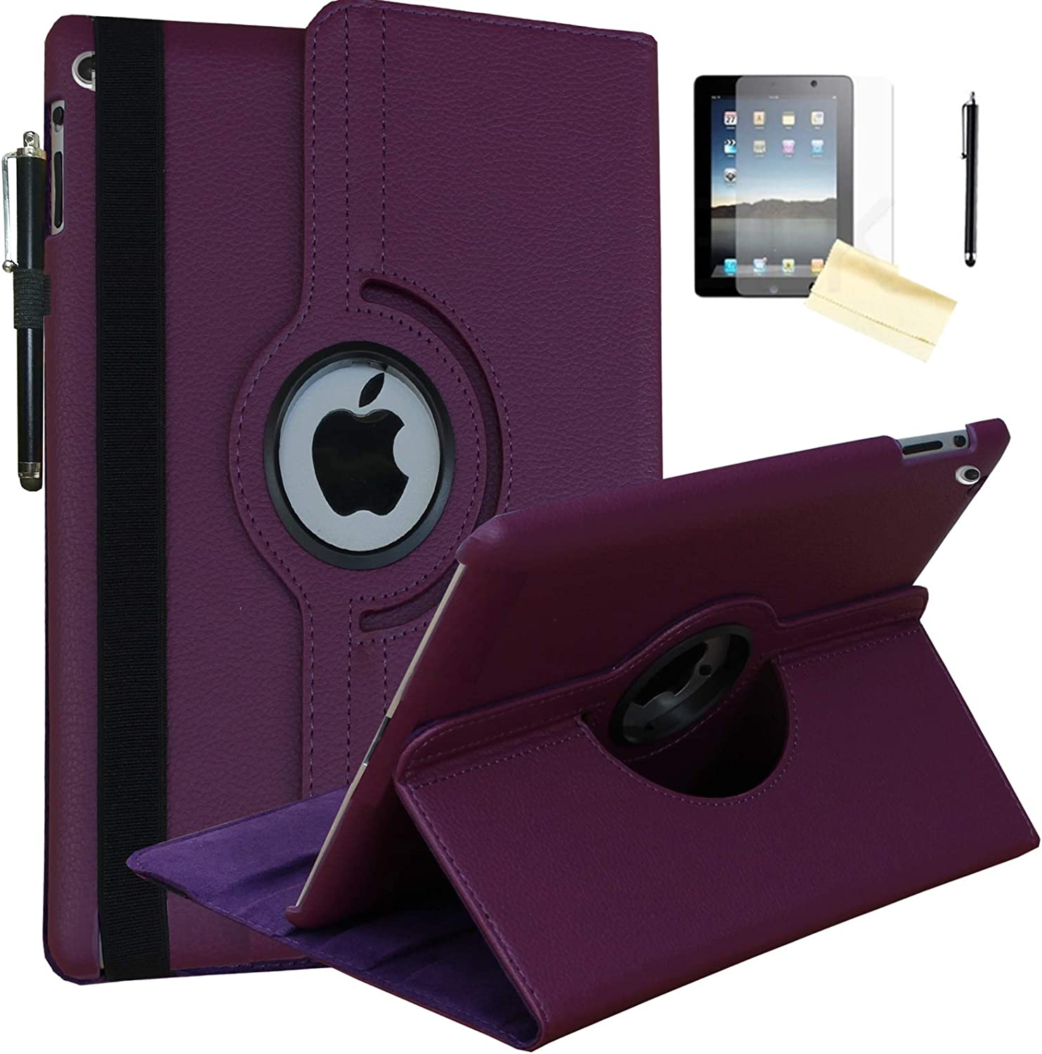 JYtrend Case for 2019 iPad 10.2 inch, for iPad 7th Generation, Rotating Stand Smart Magnetic Auto Wake Up/Sleep Cover for Model A2197 A2200 A2198 A2199 MW6X2LL/A MW712LL/A MW6Y2LL/A (Purple)