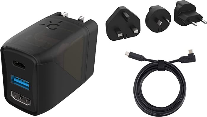 Human Things - Covert Dock compatible with Nintendo Switch. Ultra Portable Nintendo Switch Charger and Dock - TV Docking & Charging via USB-C. Also Included: USB C 3.1