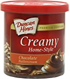 Duncan Hines Creamy Home-Style Frosting, Chocolate Buttercream, 16 Ounce