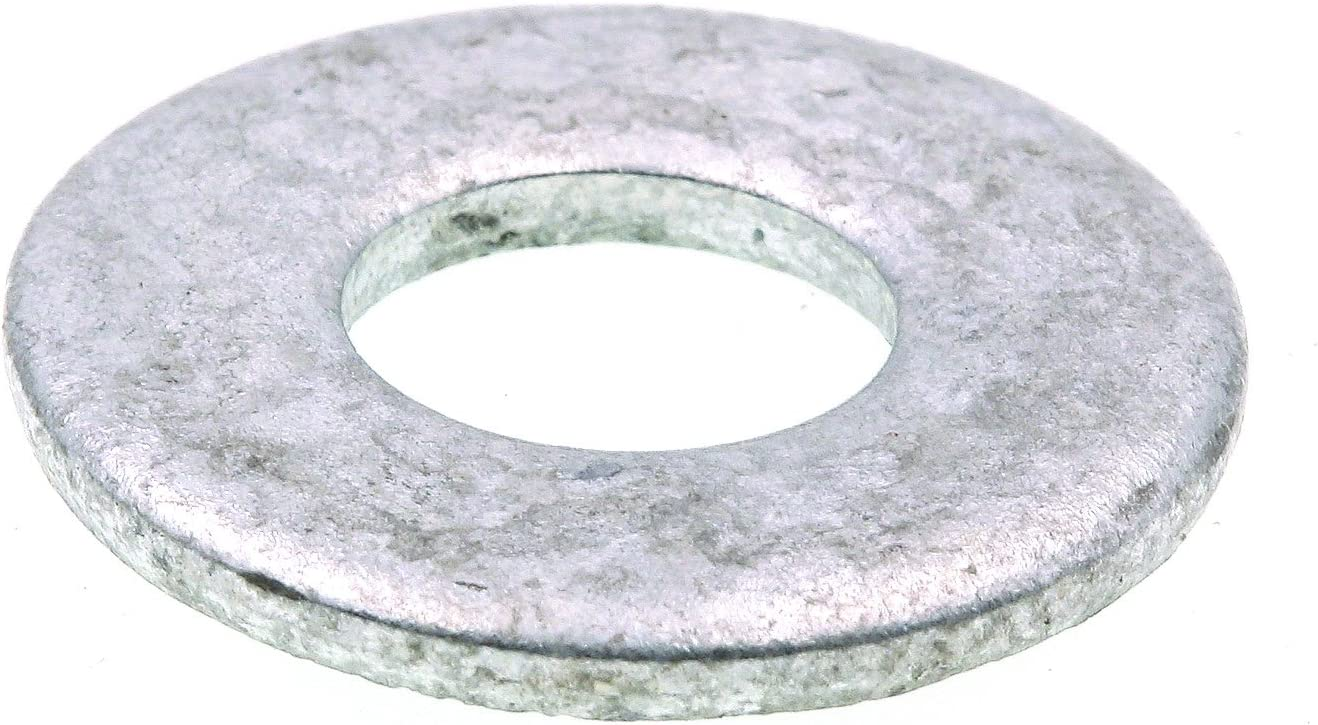 Prime-Line 9080082 Flat Washers, USS, 3/8 in. X 1 in. OD, Hot Dip Galvanized Steel, 50-Pack