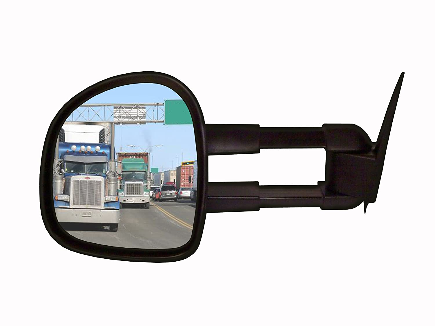 Left Hand Side Cipa USA CIPA 72511 Extendable Replacement Electric Heated Towing Mirror fits 1998-2008 Ford HD Super Duty Pickups