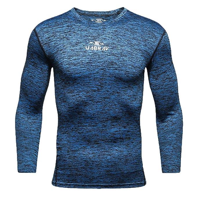 ... Camiseta de Compresión de Manga Larga Secado Rápido Camiseta térmica para Hombre Rápido Gym Corriendo Blusa Tops Camisetas: Amazon.es: Ropa y accesorios