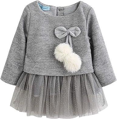 Vestido Tutú 6-18 Meses para Bebé Niña Malla Vestidos Niñas ...