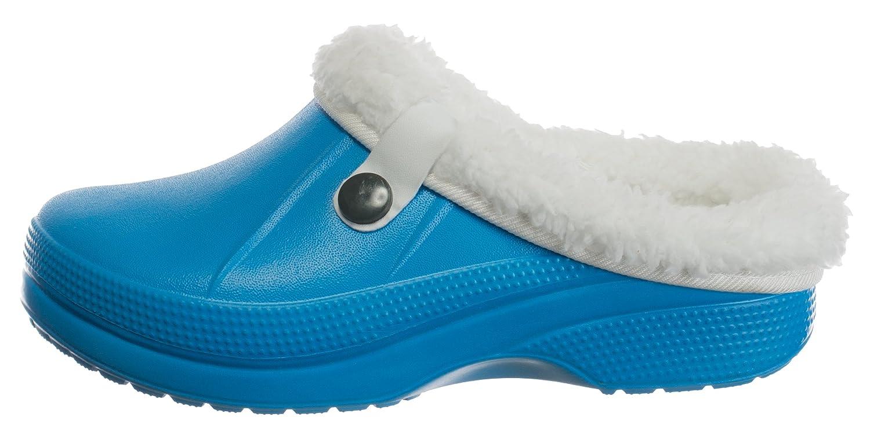 f54089458ed18c Kinder Clogs Pantoffel Schuhe Gartenschuhe Hausschuhe gefüttert - Farben   Blau - Größe  33-