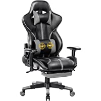 Blue Whale Gaming Chair Super Big and Tall PC Computer Game Chair with Footrest Racing Desk Chair Ergonomic Office Chair…