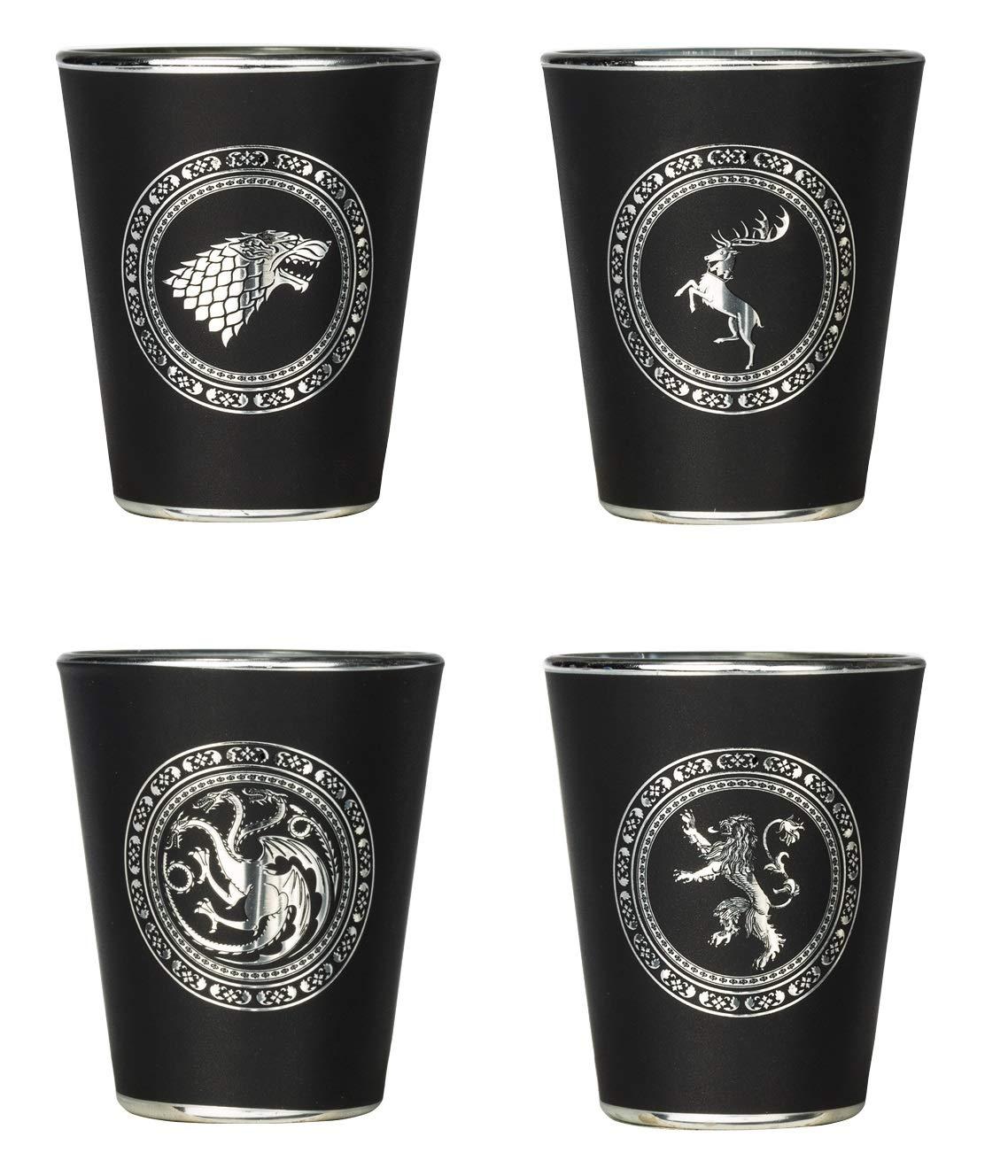 Rabbit Tanaka Game of Thrones House Sigil Shot Glass Set (Set of 4) by Rabbit Tanaka