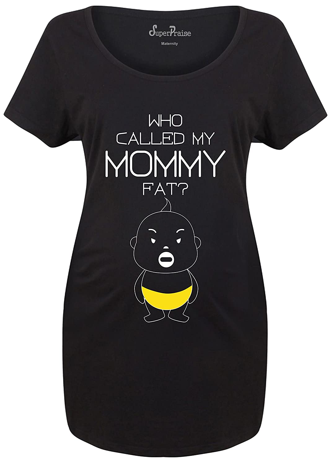 SuperPraise Called My Mommy Fat Funny Slogan Joke Pregnancy Women Maternity T Shirt Matenity T Shirt -S To 3XL SP031117MTA456