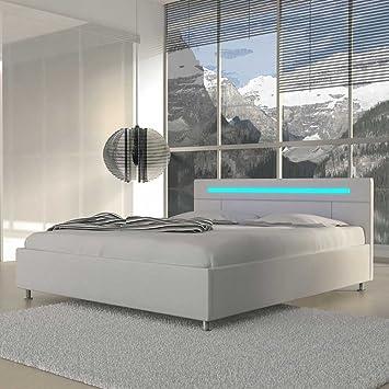 Pharao24 Jugendbett In Weiß Led Beleuchtung Breite 149 Cm
