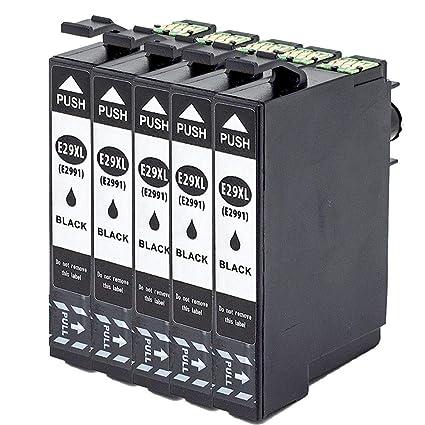 ouguan 4 x Negro Compatible con Epson 29 29 x l Cartuchos de ...