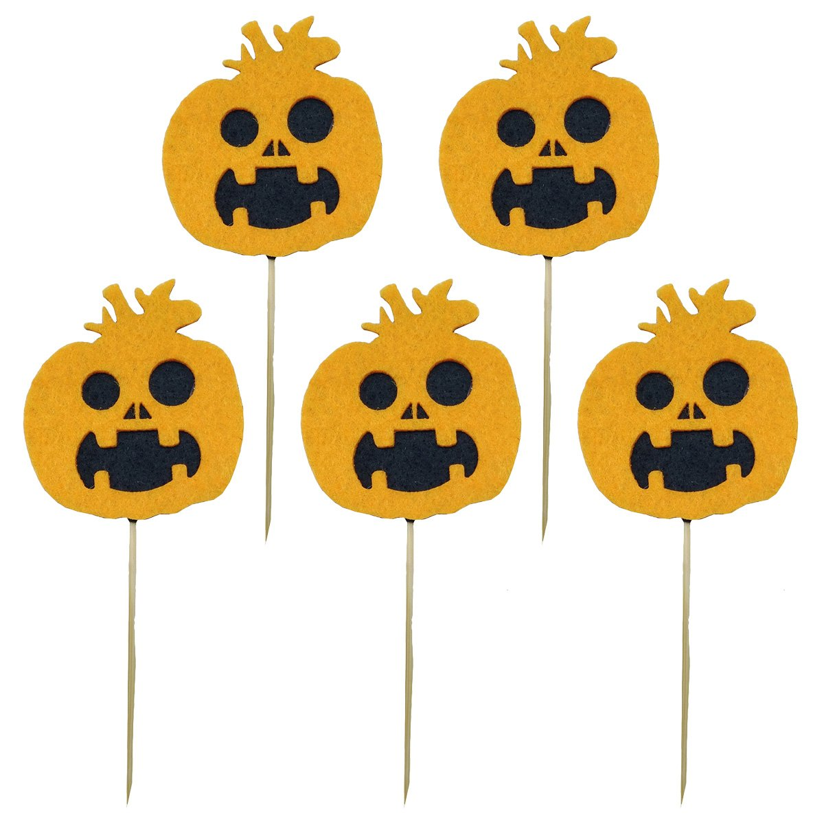 LUOEM 5pcs Fiesta de Halloween Cupcake Toppers Picks Decoraciones ...