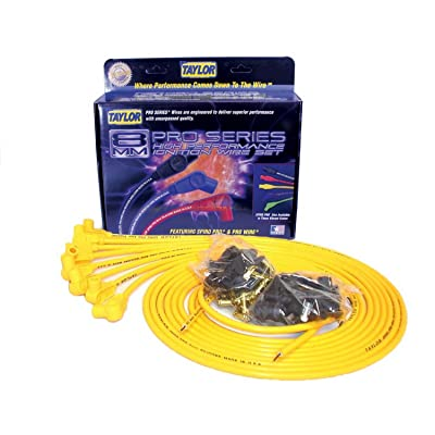 Taylor Cable 73451 Spiro-Pro Yellow Spark Plug Wire Set: Automotive