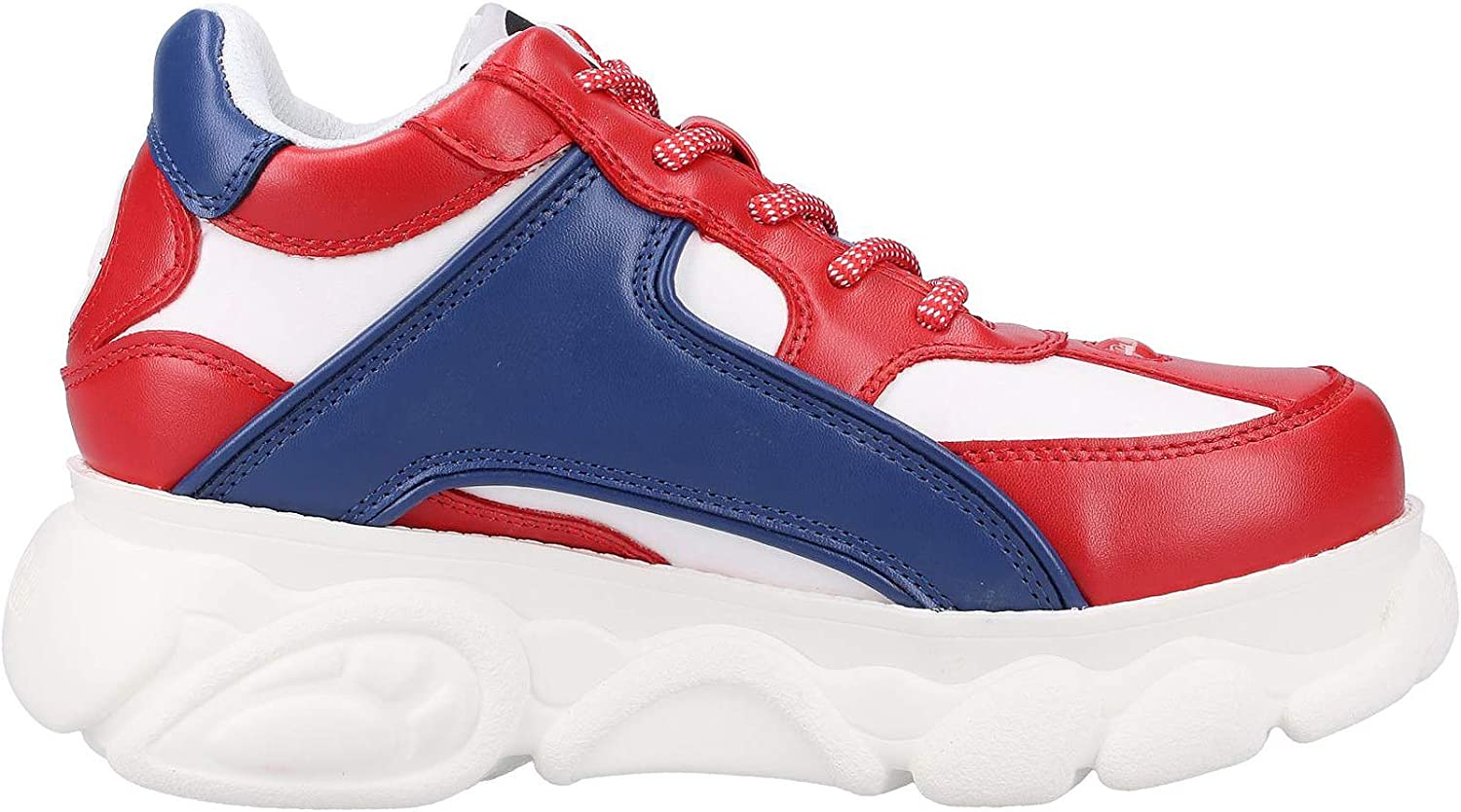 Buffalo Colby, Sneakers Basses Femme Multicolore Red Blue White 000