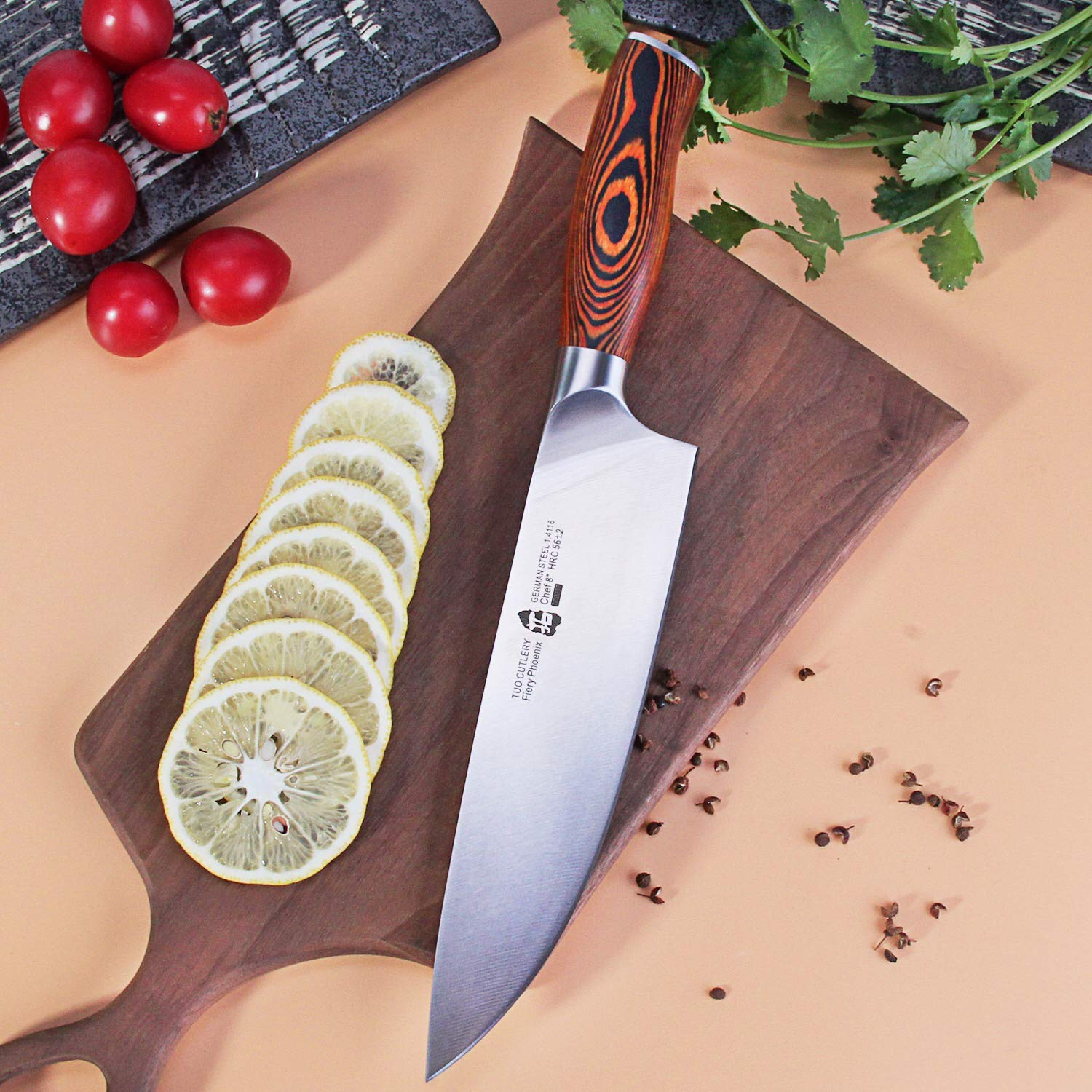 Amazon.com: TUO Cuchillo de cocina de chef de 8.0 in – HC ...