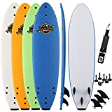 SBBC - 7' Soft Top Surfboard - || 7ft Ruccus || - Fun Performance Foam Surfboards | Great Surf Boards All Surfing Skill Levels