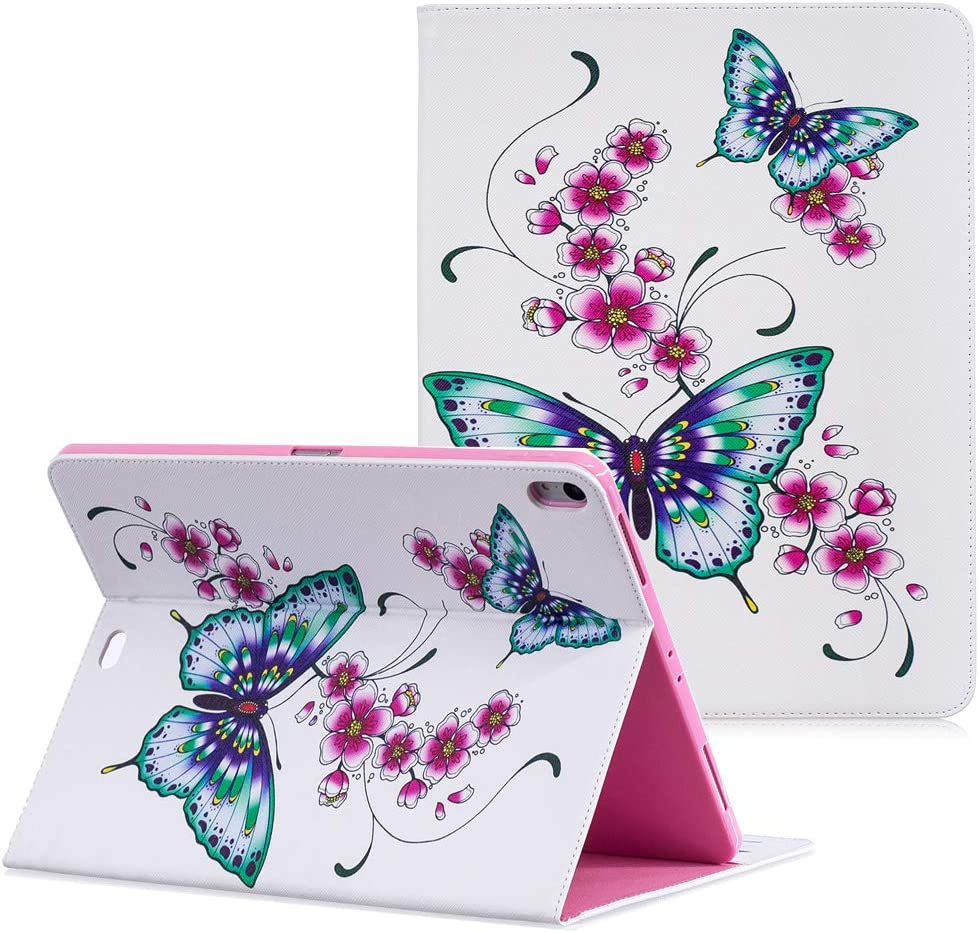 iPad Pro 12.9 Case 2018 3rd Gen, YMH Leather Slim Lightweight Magnetic Shell Folding Stand Folio Cute Boy Girl Kids Multiple Viewing Angle Pocket Wallet Cover Case for iPad Pro 12.9 inch 2018 (01)