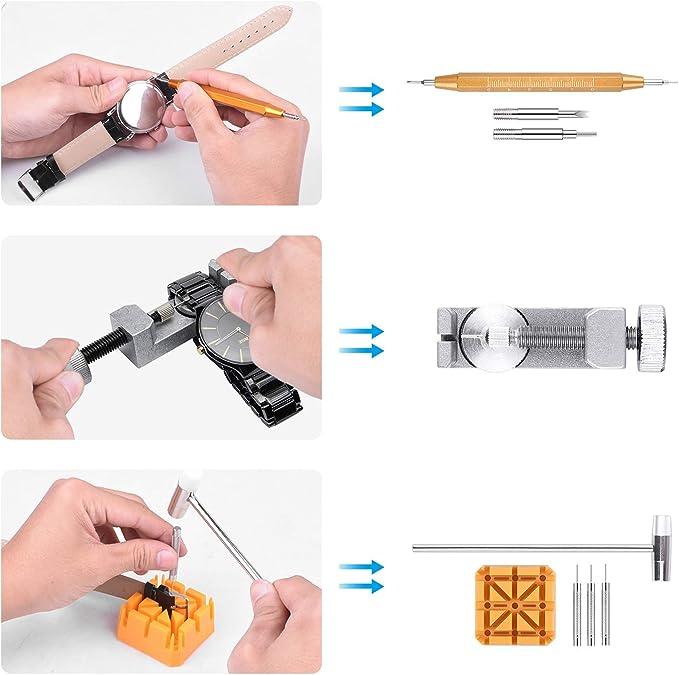 horloger stiftau pilote pour la montre-bracelet Outil pour montres 14 Pièces Set