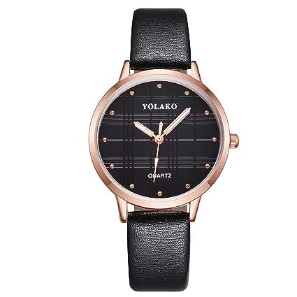SuperLina Slim Leather Strap Women Watches Elegant Female Rose Gold Quartz Wrist Watch Fashion Ladies Watch