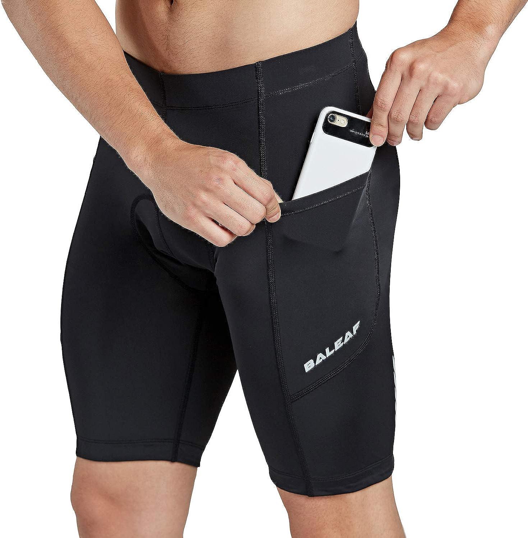 BALEAF Mens Cycling Shorts 3D Padded Bike Biking Bicycle Pants Tights Breathable and Absorbent UPF 50+