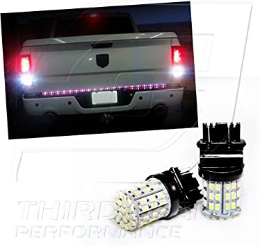 Amazon Com Tgp 3157 White 64 Led Smd Wedge Reverse Backup Light Bulbs Pair 2003 2006 Compatible With Dodge Ram 1500 2500 3500 Automotive