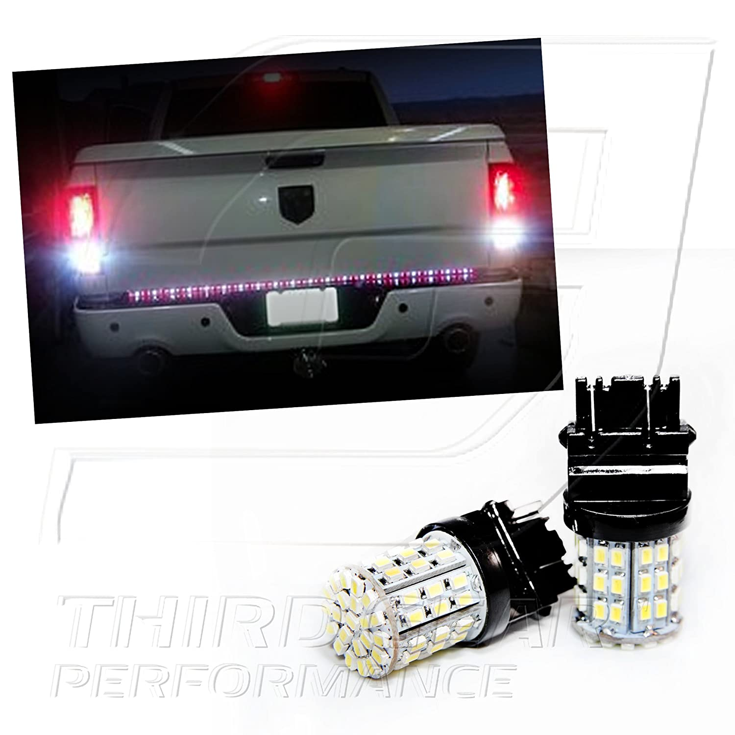 Amazon.com: TGP 3157 White 64 LED SMD Wedge Reverse / Backup Light Bulbs  Pair 2003-2006 Dodge Ram 1500 2500 3500: Automotive