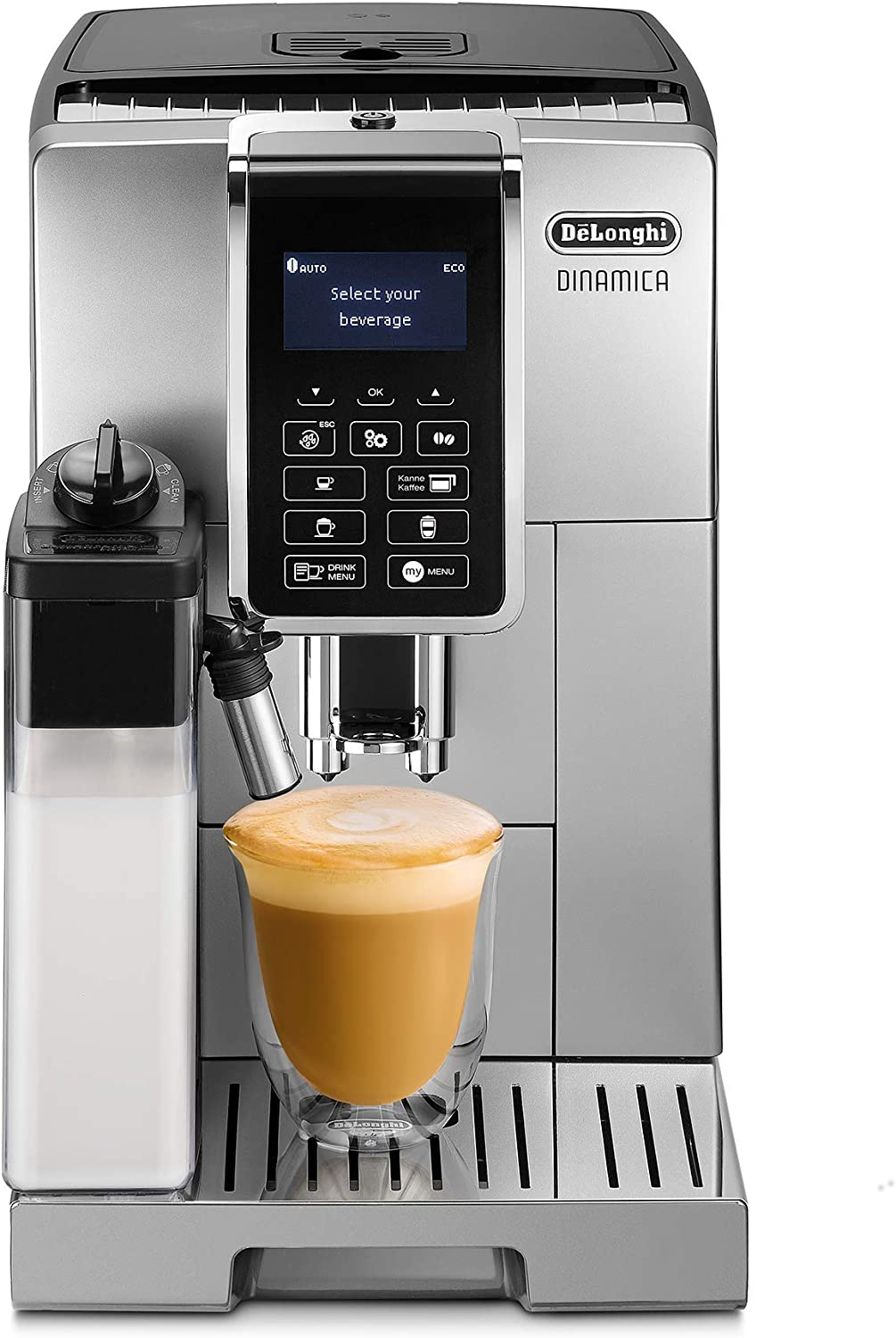 DeLonghi Dedica Style Dinamica Ecam Independiente Totalmente automática Máquina espresso Acero inoxidable - Cafetera (Independiente, Máquina espresso, Granos de café, De café molido, Molinillo integrado, 1450 W, Acero inoxidable): Amazon.es: Hogar