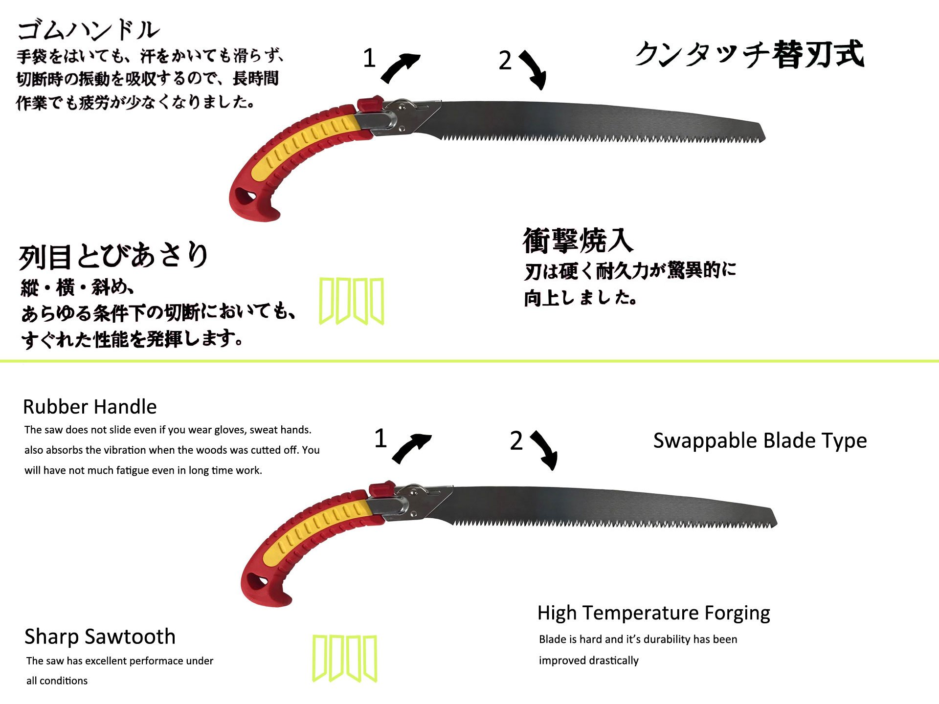 Geelife Landscaping Hand Pruning Saw Rugged Razor Blade Hand Saw with Sheath Professional Pruning Saws Garden Tool for Trim Tree Branches by Geelife (Image #4)