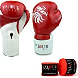 Red Paw Boxing Gloves And Hand Wraps Set ★ 10oz 12oz 14oz 16oz Glove Sparring Punch Fight MMA Muay Thai Martial Arts Training Kickboxing ★ Mexican Bandage PRO Wrap Stretchy Bandages Fist