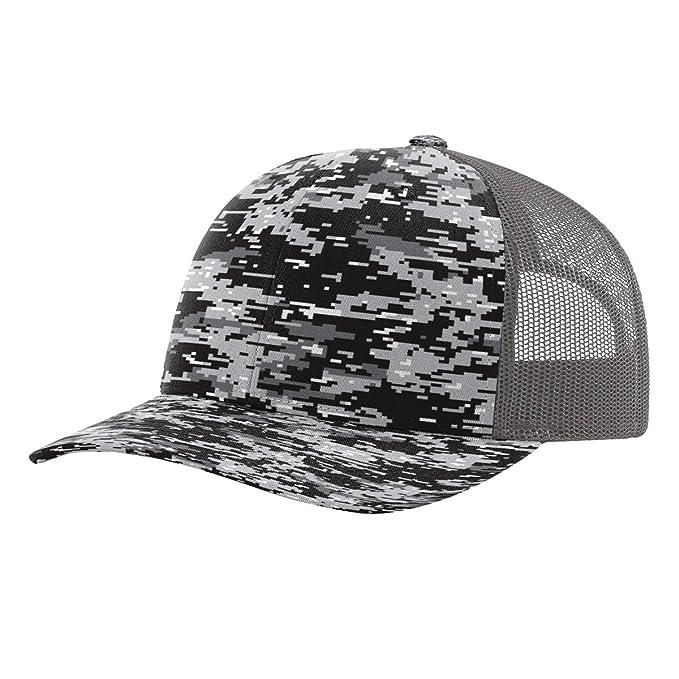 7451c38b9 Twill Mesh Back Trucker Snapback Hat -- BLACK DIGITAL CAMO/CHARCOAL ...