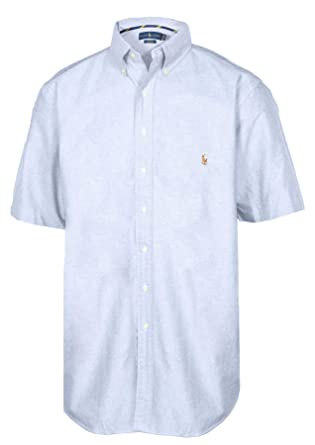 d85b94b4d RALPH LAUREN Polo Men s Big   Tall Classic Fit Short Sleeve Solid Oxford  Sport Shirt (