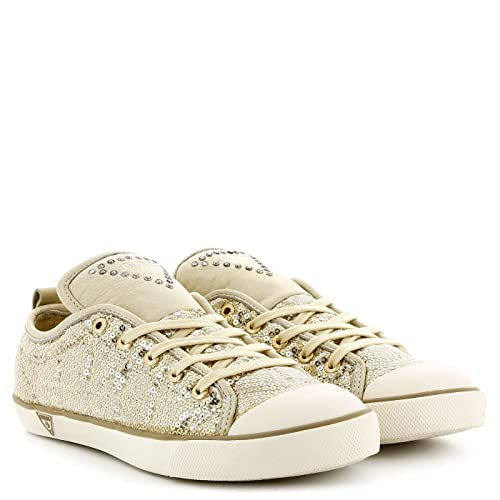 Guess Donna Sneakers Alta, FL3JNASAT12, Oro, 36: Amazon.it