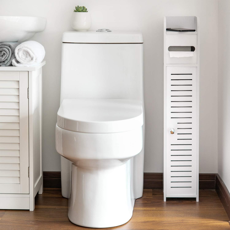 AOJEZOR Small Bathroom Storage Corner Floor Cabinet with ...