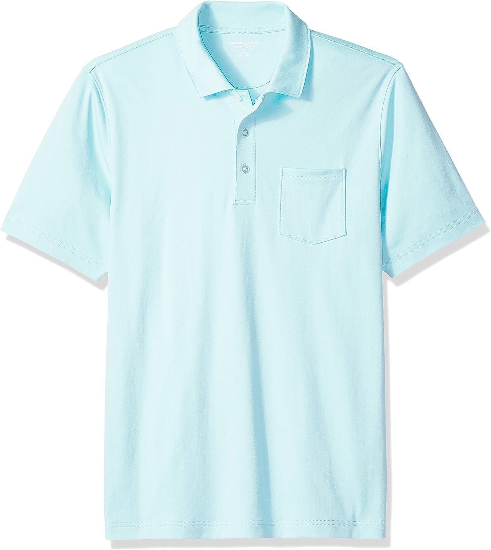 Essentials Regular-fit Striped Cotton Pique Polo Shirt Hombre